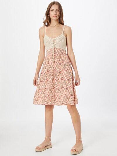 Hailys Obleka 'Kana' | kremna / pastelno oranžna / roza barva, Prikaz modela