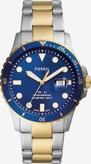 FOSSIL Uhr in blau / gold / silber, Produktansicht