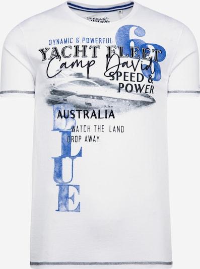 CAMP DAVID Shirt in blau / weiß, Produktansicht