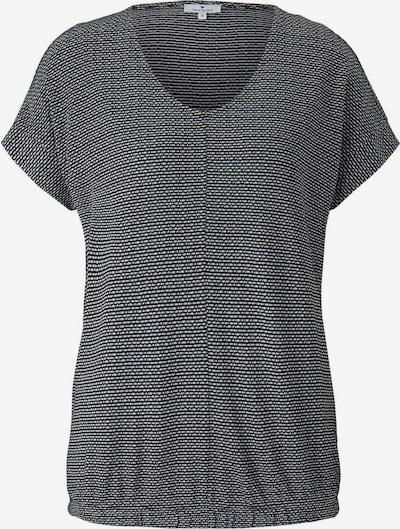 Tricou TOM TAILOR pe negru / alb, Vizualizare produs