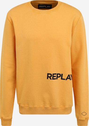 REPLAY Sweatshirt in hellorange / schwarz, Produktansicht