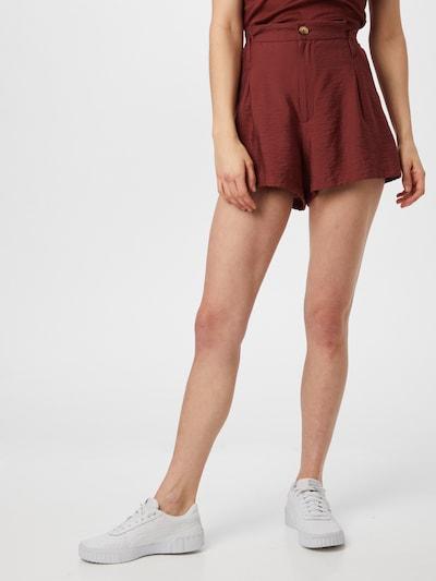 ABOUT YOU Kalhoty se sklady v pase 'Lianne' - rezavě hnědá, Model/ka