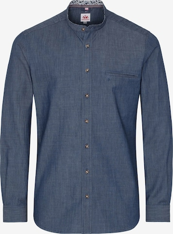 SPIETH & WENSKY Traditional Button Up Shirt 'Palmiro' in Blue