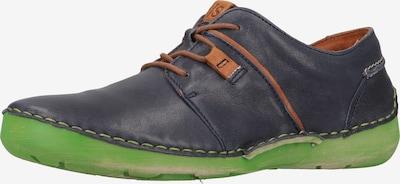 JOSEF SEIBEL Schnürschuh 'Fergey 91' in dunkelblau / grün / orange, Produktansicht