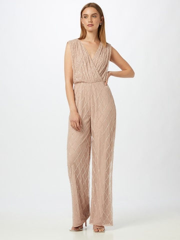 Frock and Frill Jumpsuit in Beige