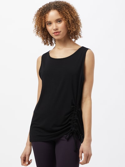 CURARE Yogawear Sports top in black: Frontal view