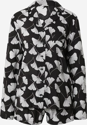 ESPRIT Pyjama 'Hoku' en noir / blanc, Vue avec produit