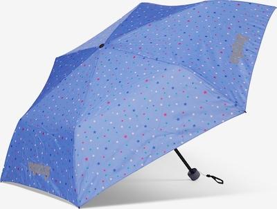 ergobag Regenschirm in blau / grün / altrosa / weiß, Produktansicht