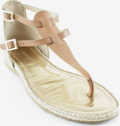 JIMMY CHOO Sandals & High-Heeled Sandals in 38,5 in Cognac / Gold, Item view