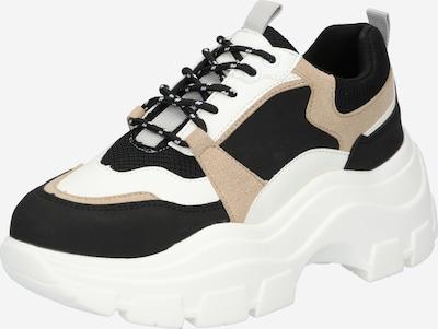Sneaker low GLAMOROUS pe bej / negru / alb, Vizualizare produs