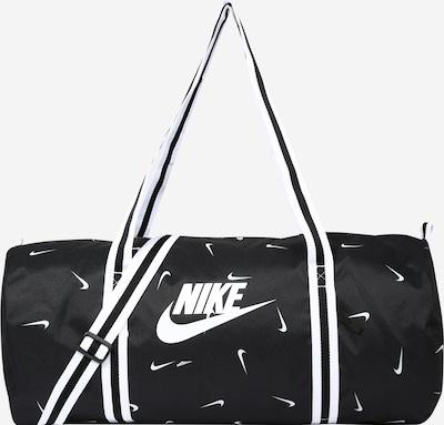 Nike Sportswear Bolsa de fin de semana en negro / blanco, Vista del producto