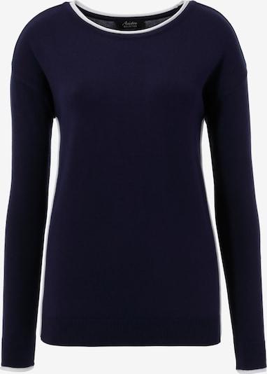 Aniston SELECTED Pullover in marine / weiß, Produktansicht
