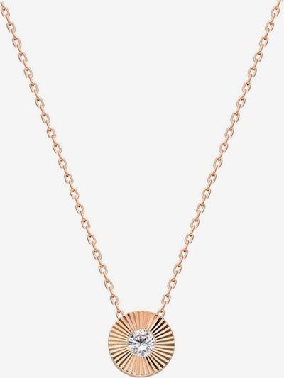 Dkeniz Silberkette 'Solitär' in rosegold, Produktansicht