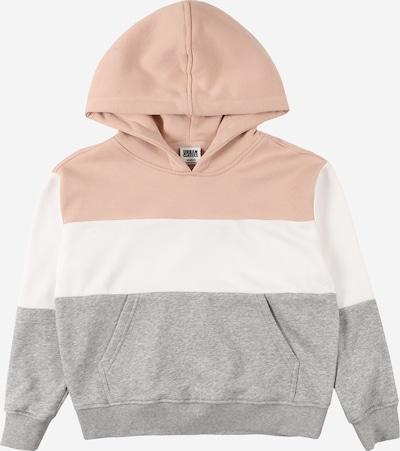 Urban Classics Kids Sweatshirt in grau / hellpink / weiß, Produktansicht