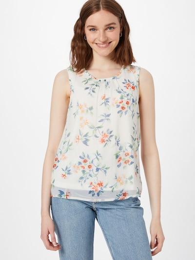 VERO MODA Bluzka 'KAY' w kolorze jasnoniebieski / jasnozielony / łososiowy / białym, Podgląd na modelu(-ce)