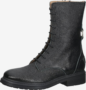 SHABBIES AMSTERDAM Lace-Up Boots in Black