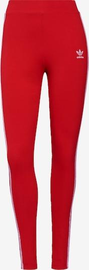 Leggings ADIDAS ORIGINALS pe roșu / alb, Vizualizare produs