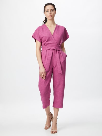 Closet London Jumpsuit in de kleur Lila gemêleerd, Modelweergave