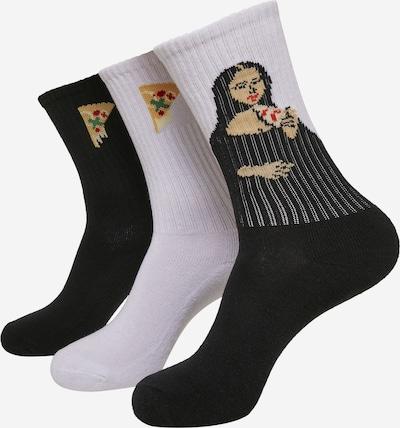Mister Tee Socken in gelb / rot / schwarz / weiß, Produktansicht