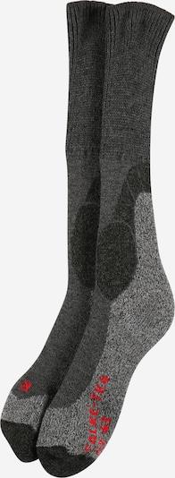 FALKE Chaussettes de sport en gris foncé / gris chiné / rouge, Vue avec produit