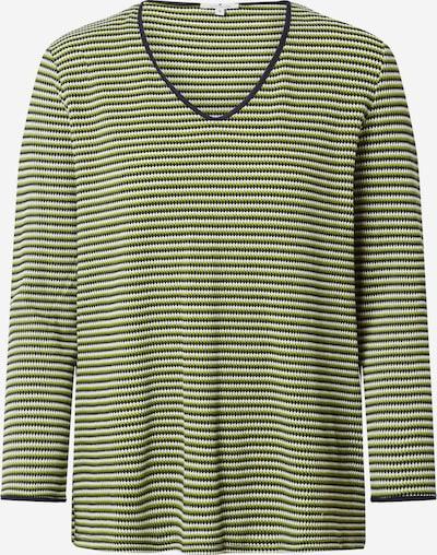 TOM TAILOR Shirt in grün / schwarz, Produktansicht