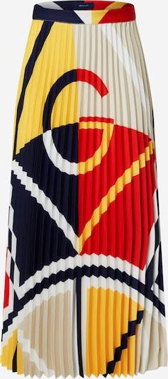GANT Nederdel i beige / mørkeblå / gul / rød / hvid, Produktvisning