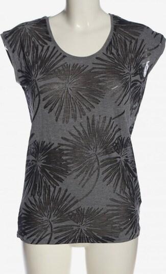 BEACH TIME Kurzarm-Bluse in XS in hellgrau / schwarz, Produktansicht