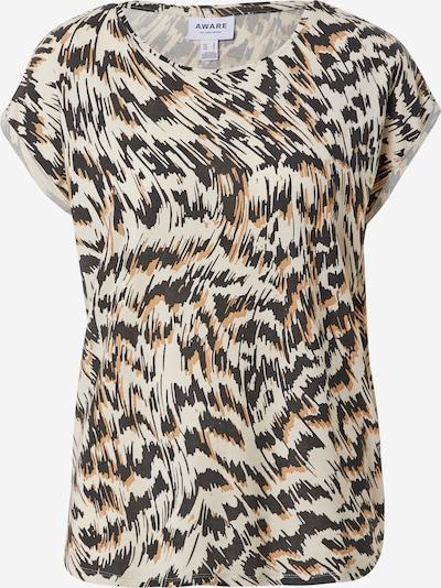 Vero Moda Aware T-Shirt 'Ava' in braun / greige / schwarz, Produktansicht