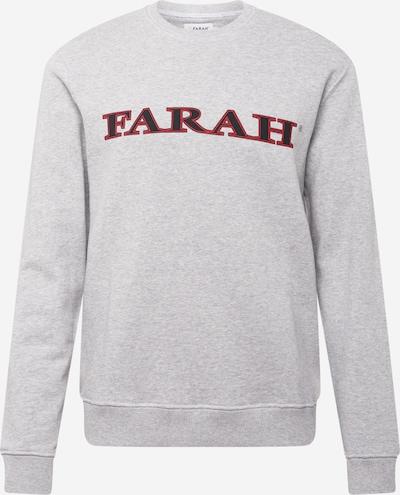 FARAH Sweatshirt 'PALM' in graumeliert / kirschrot / schwarz, Produktansicht
