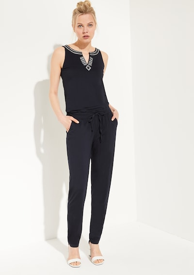 Ci comma casual identity Jumpsuit mit Embroidery in marine, Modelansicht