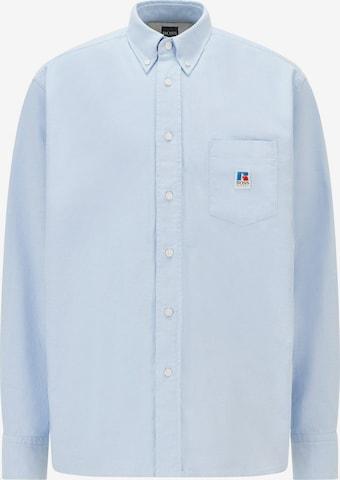 BOSS Casual Triiksärk 'Nambeth Russell Athletic', värv sinine