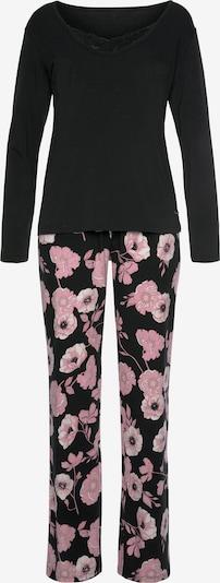 LASCANA Pyjama in navy / rosa / weiß, Produktansicht