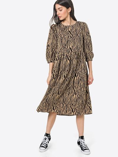 VILA Obleka | rjava / črna barva, Prikaz modela