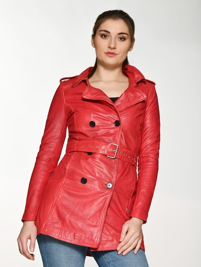 Maze Between-Seasons Coat ' Culima ' in Red, View model