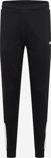 Pantaloni 'Narvel' FILA pe negru / alb, Vizualizare produs