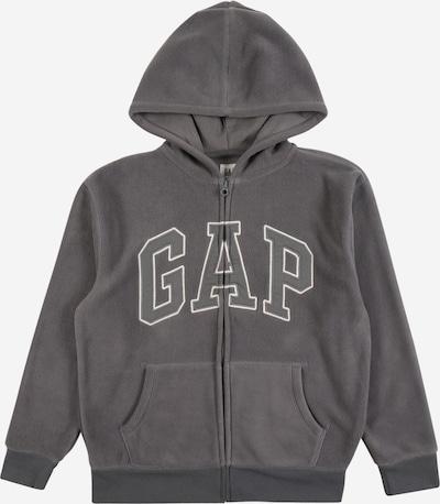 GAP Fleecová mikina - tmavě šedá / bílá, Produkt