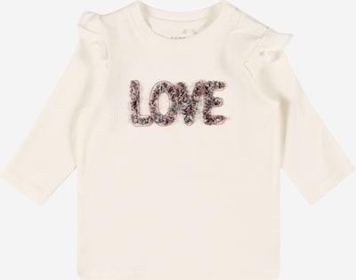 NAME IT Camiseta 'DONNA' en gris / langosta / blanco, Vista del producto