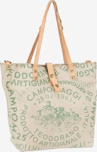 Campomaggi Schultertasche 'Genziana C25970' in hellbeige / grün, Produktansicht