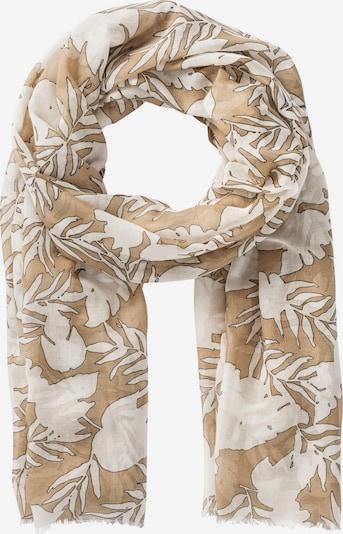 HALLHUBER Schal in beige / weiß, Produktansicht