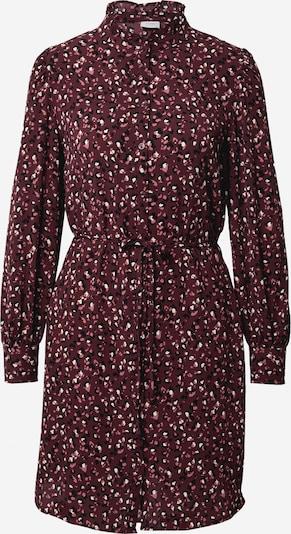 JACQUELINE de YONG Skjortklänning 'MILO' i mörkröd / svart / vit, Produktvy