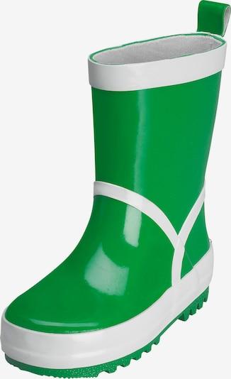 PLAYSHOES Botas de lluvia en verde / blanco, Vista del producto