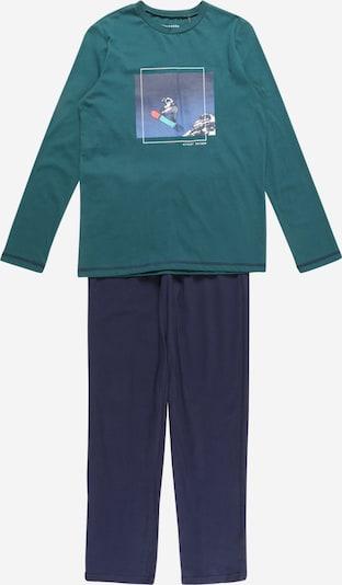 SCHIESSER Pyžamo 'Winter Escape' - námornícka modrá / tmavozelená / biela, Produkt