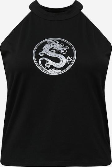 Mister Tee Curvy Top 'Dragon' in de kleur Zwart / Wit, Productweergave