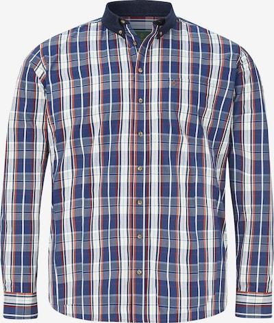 Charles Colby Overhemd 'Duke Robert' in de kleur Blauw / Rood / Wit, Productweergave