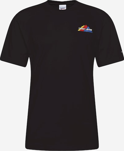 Tommy Jeans T-Shirt en bleu clair / jaune / orange / noir / blanc, Vue avec produit