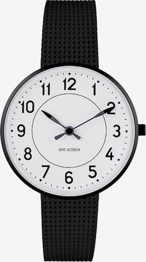 Arne Jacobsen Uhr in schwarz / weiß, Produktansicht