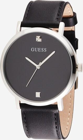 GUESS Uhr 'Supernova' in schwarz / silber, Produktansicht