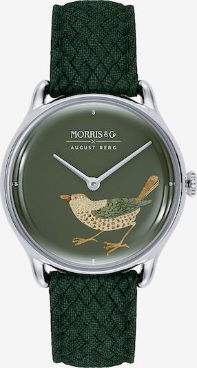 August Berg Uhr MORRIS & CO Silver Bird Green Perlon 30mm in dunkelgrün, Produktansicht