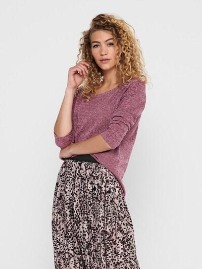 ONLY Trui 'Alba' in de kleur Rosé / Zwart, Modelweergave