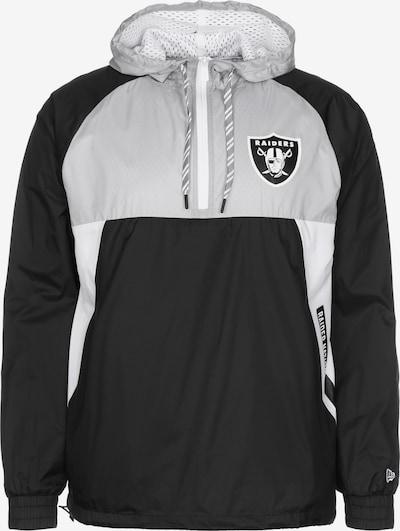 NEW ERA Tussenjas 'Las Vegas Raiders' in de kleur Grijs / Zwart / Wit, Productweergave